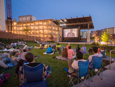 The Innovation & Cinema series is a collaboration between the Innovation Quarter and a/perture to offer free movies in the park that highlight aspects of innovation and art.